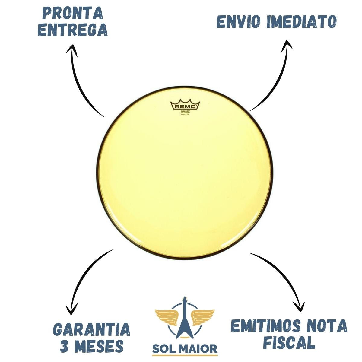 Pele Remo 18 Polegadas Emperor Colortone Amarelo BE-0318-CT-YE