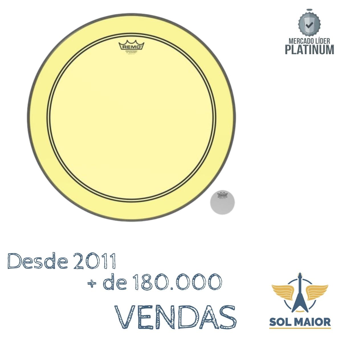"Pele Remo 18"" Powerstroke 3 Colortone Amarela P3-1318-CT-YE"