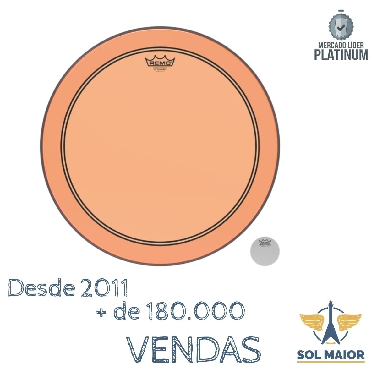 "Pele Remo 18"" Powerstroke 3 Colortone Laranja P3-1318-CT-OG"