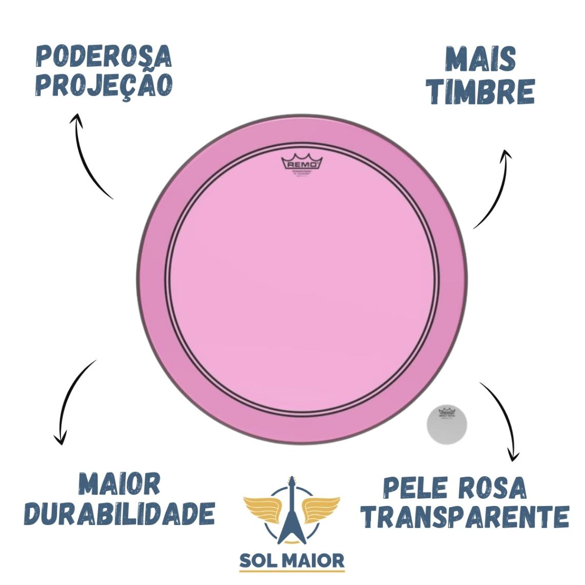 """Pele Remo 18"""" Powerstroke 3 Colortone Rosa P3-1318-CT-PK"""