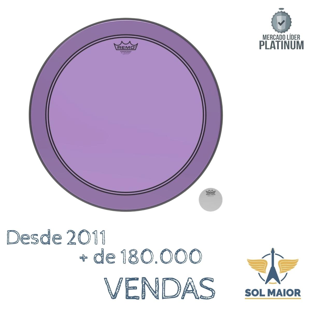 "Pele Remo 18"" Powerstroke 3 Colortone Roxa P3-1318-CT-PU"