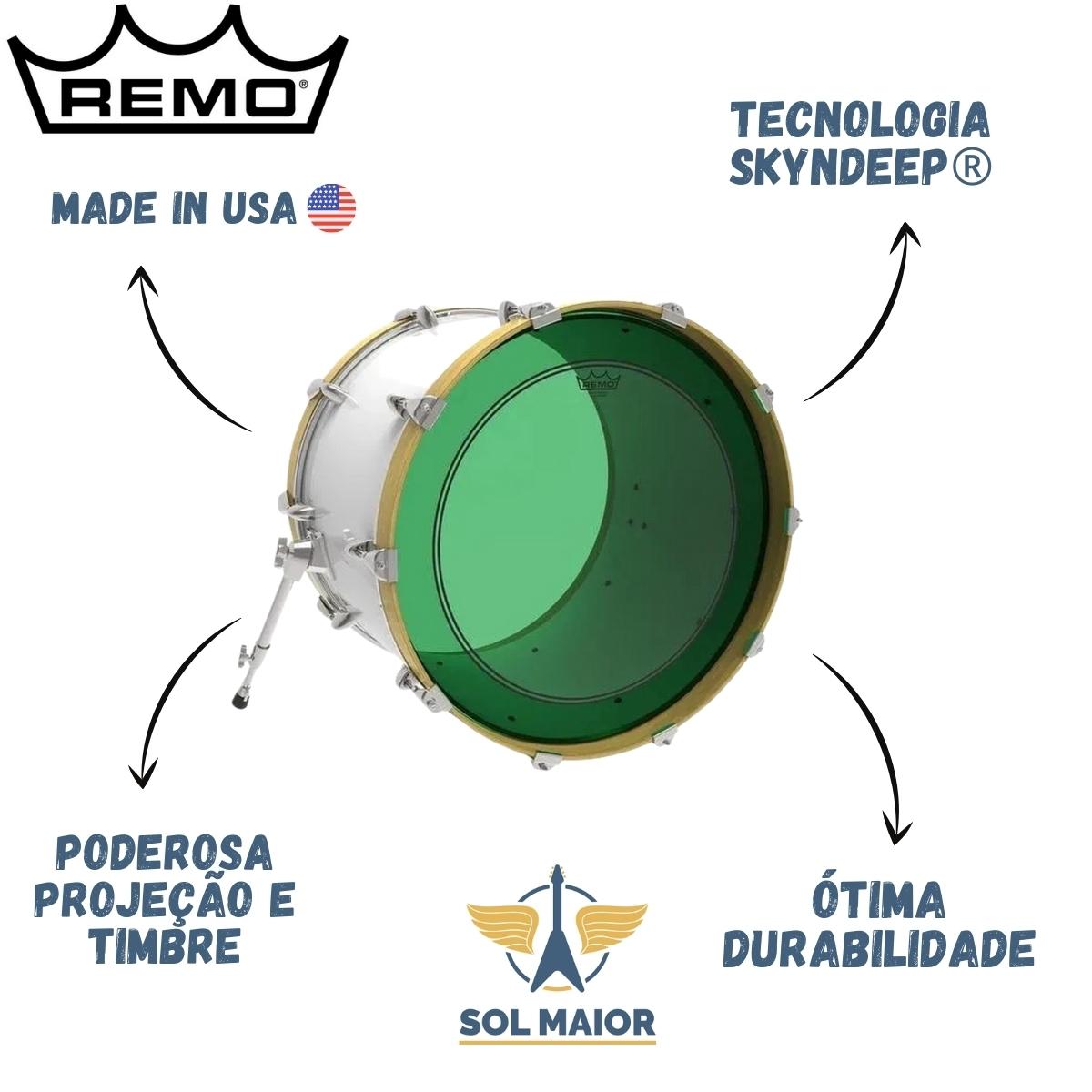 """Pele Remo 20"""" Powerstroke 3 Colortone Verde P3-1320-CT-GN"""