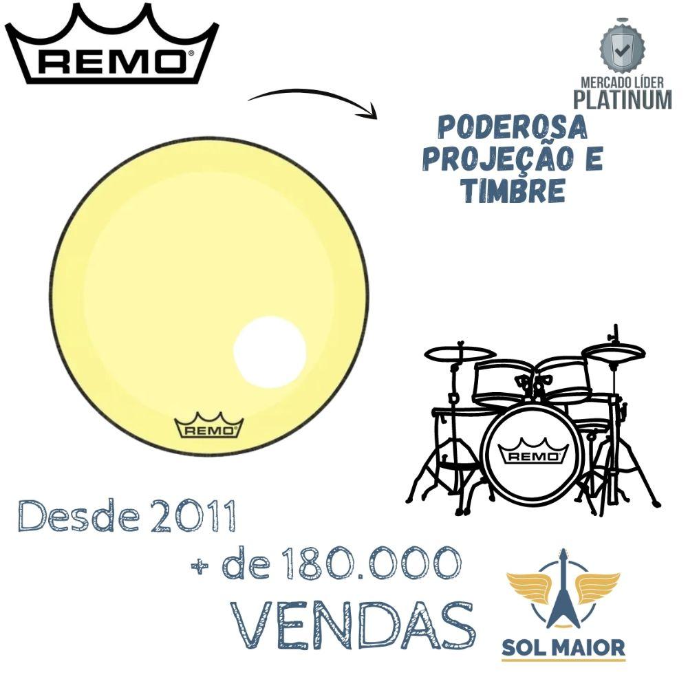 """Pele Remo 26"""" Powerstroke 3 Com Furo Amarela P3-1326-CT-YE"""