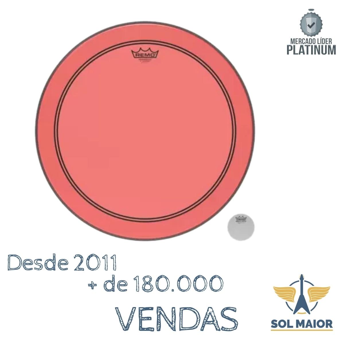 """Pele Remo 26"""" Powerstroke 3 Colortone Vermelho P3-1326-CT-RD"""