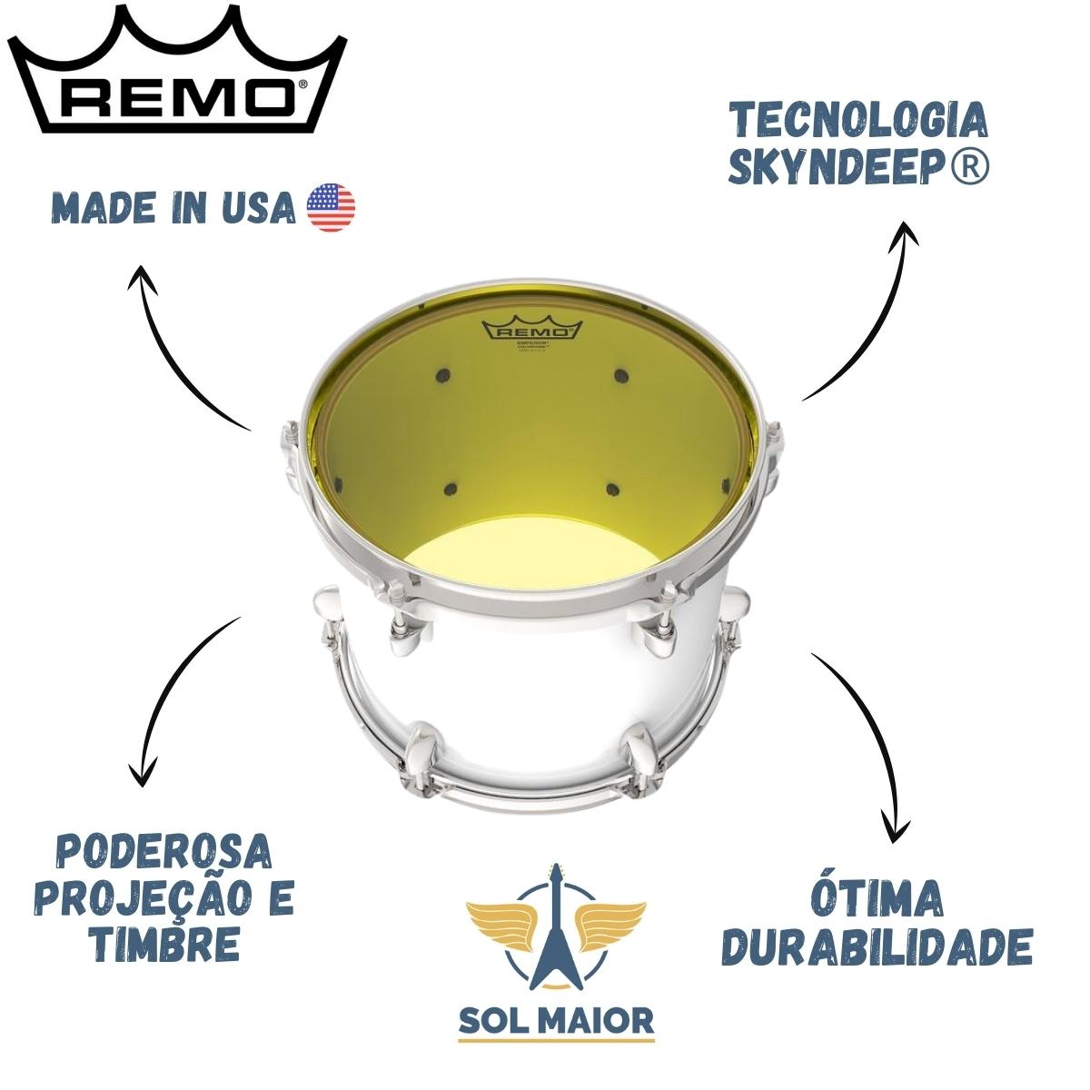 """Pele Remo 8"""" Emperor Colortone Amarela BE-0308-CT-YE"""