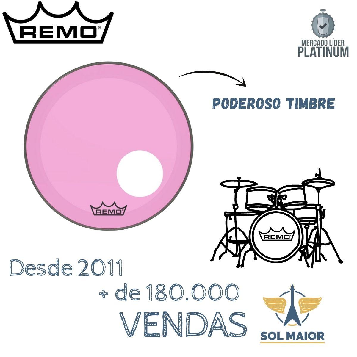 Pele Remo 18 Powerstroke 3 Colortone Rosa P3-1318-CT-PKOH