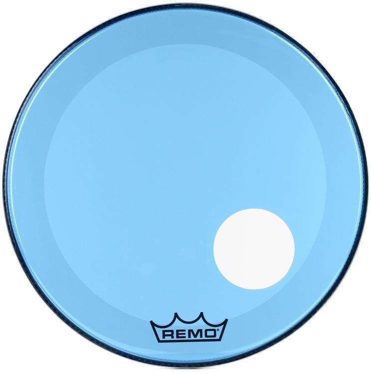 Pele Remo Bumbo 26 Powerstroke 3 C/ Furo Azul P3- 1326-CT-BU