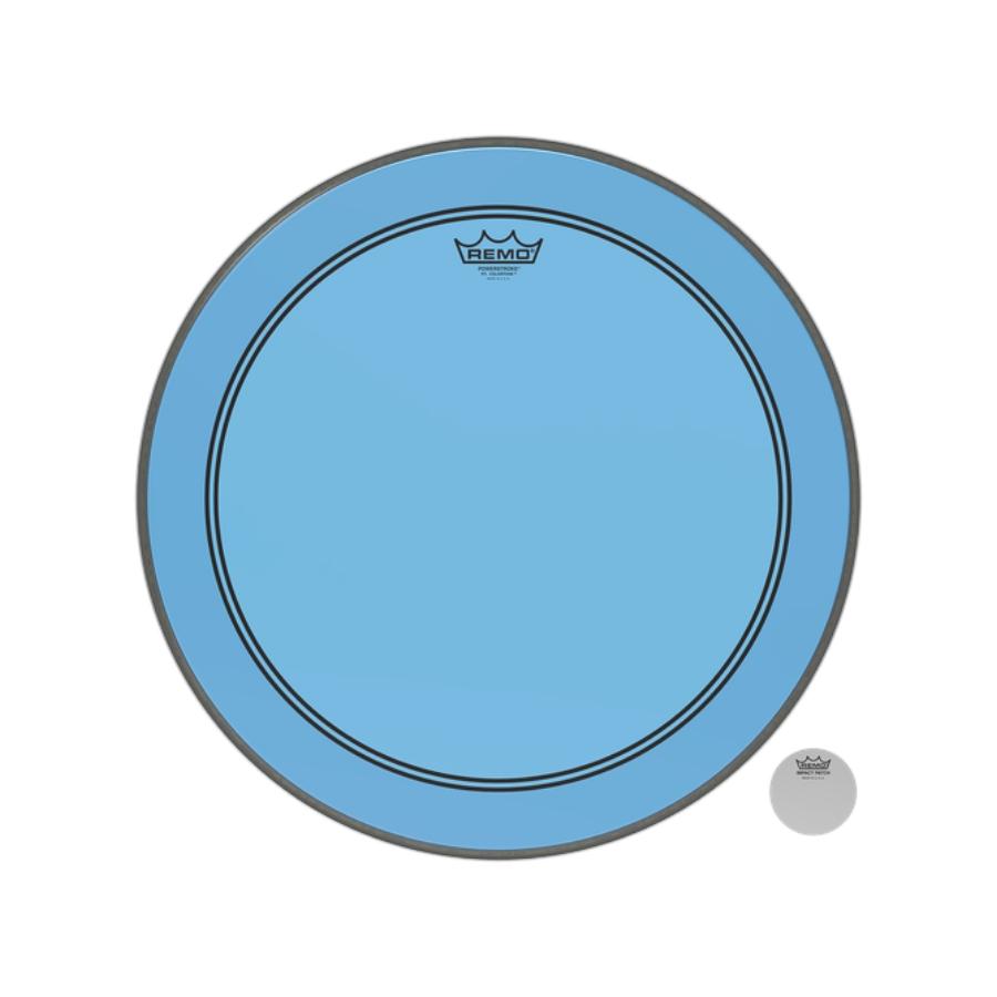 """Pele Remo de 20"""" Powerstroke 3 Colortone Azul P3-1320-CT-BU"""