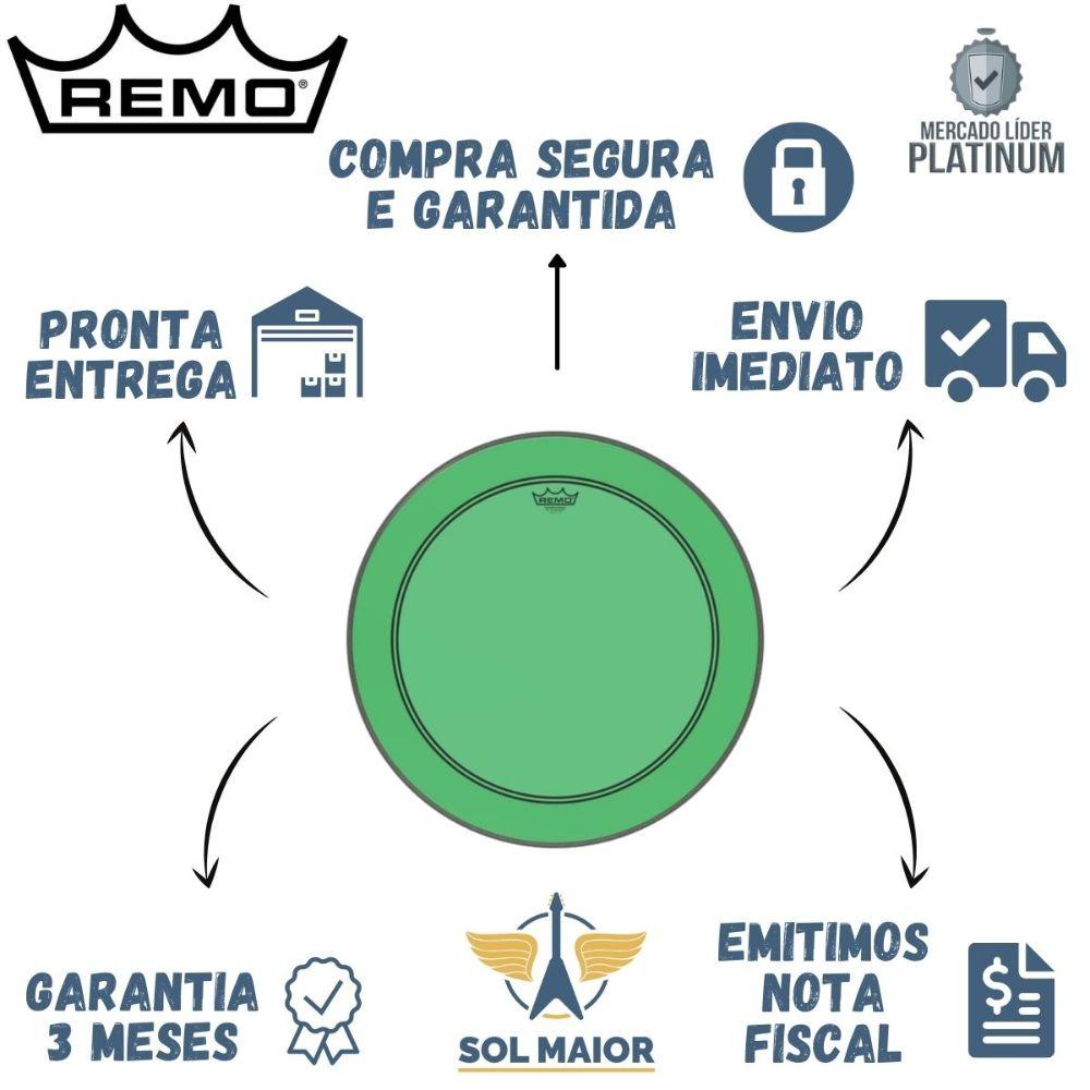 "Pele Remo de 22"" Powerstroke 3 Colortone Verde P3-1322-CT-GN"