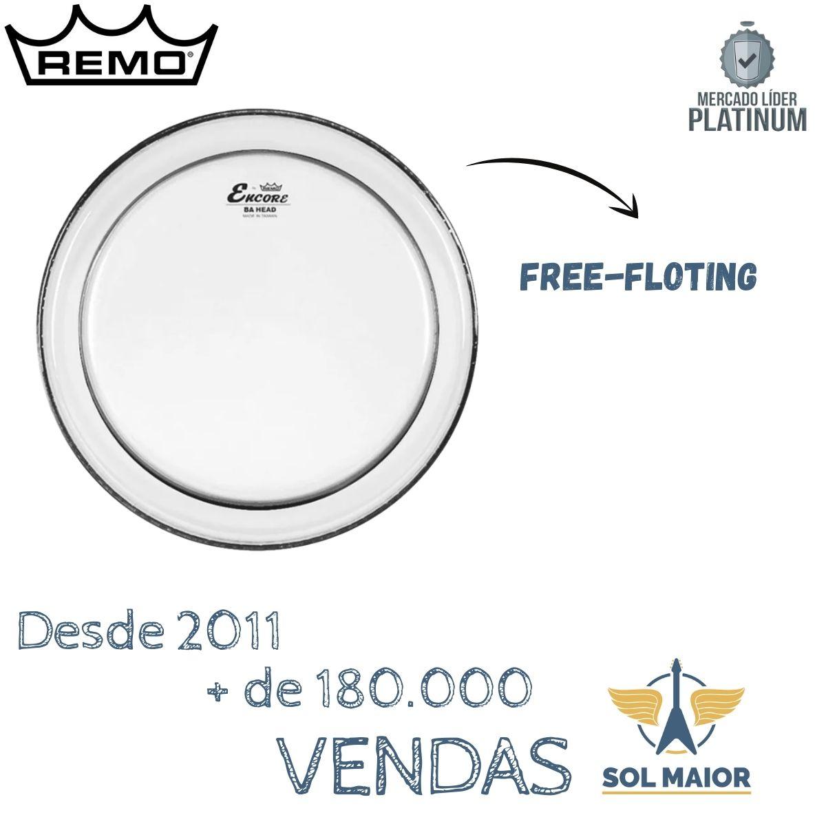 Pele Remo Encore Pinstripe 20 Pol Transparente Para Bumbo EN1320PS