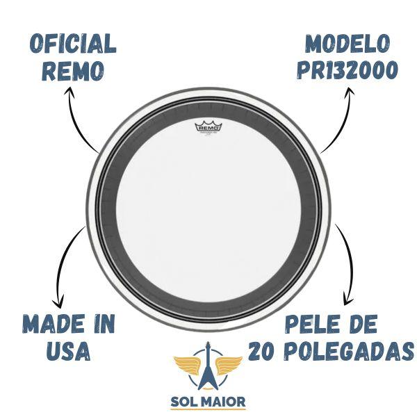 "Pele Remo PR-1320-00 20"" Powerstroke Pro Transparente"