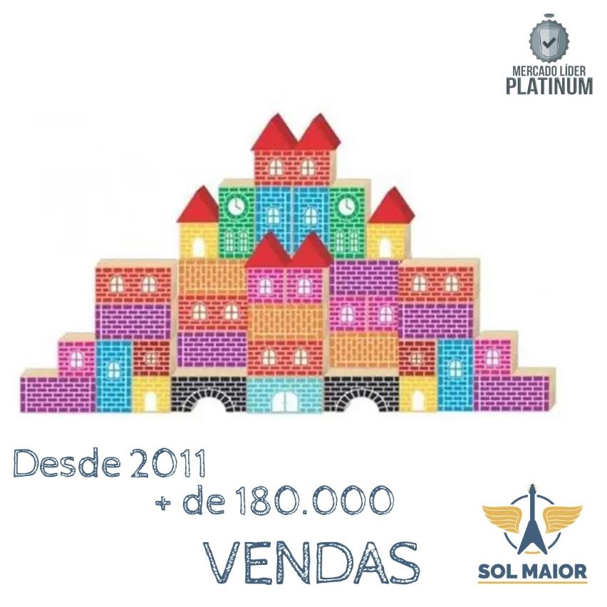 Pequeno Construtor 60 Blocos - Tradicional - 5005 - Babebi
