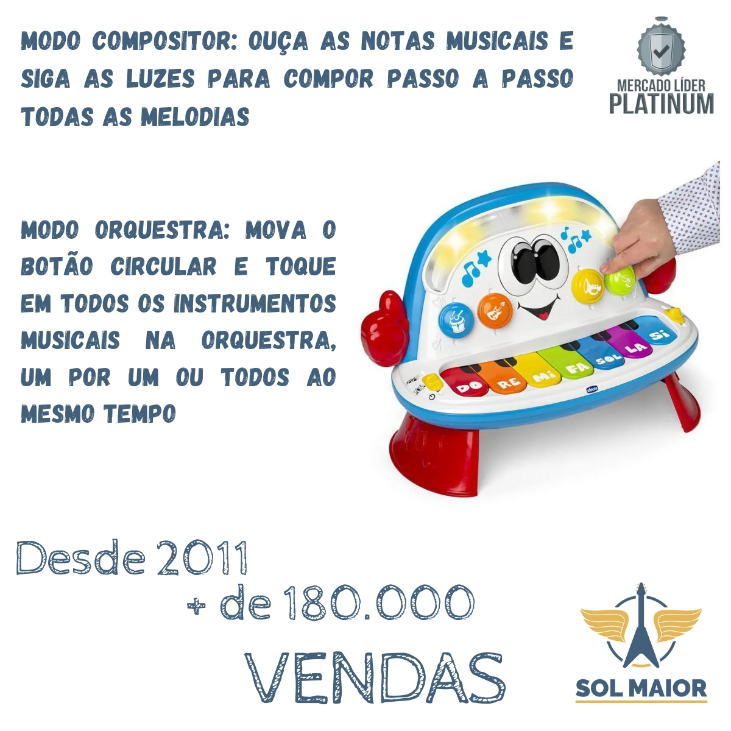 Piano Infantil Funky Orquestra Musical - Chicco