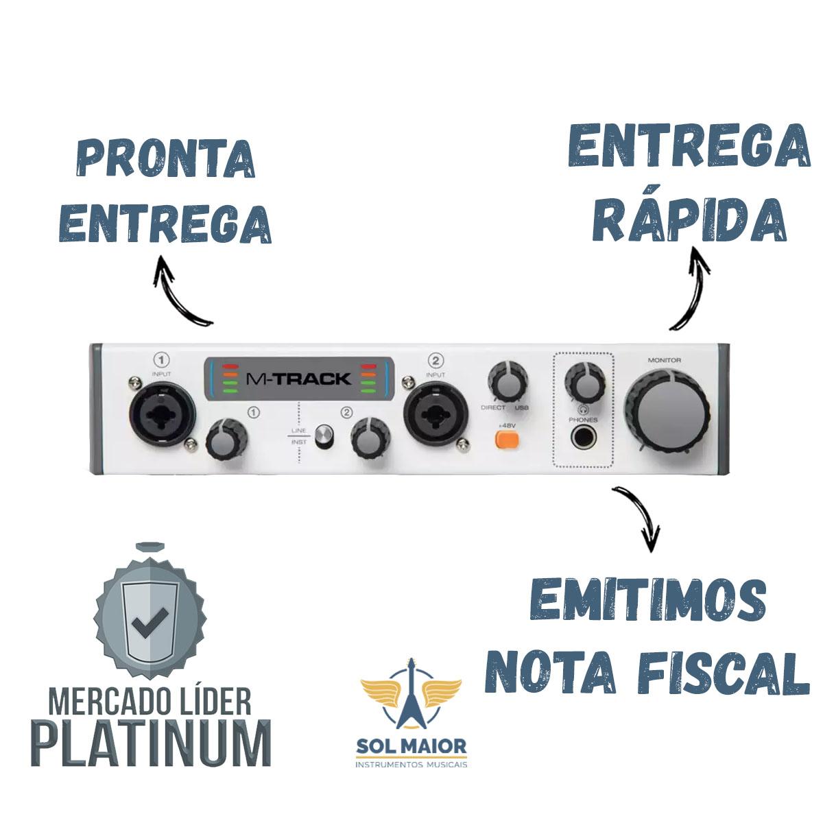 Placa Interface M Audio M Track 2 Modelo Novo 2x2 Lançamento