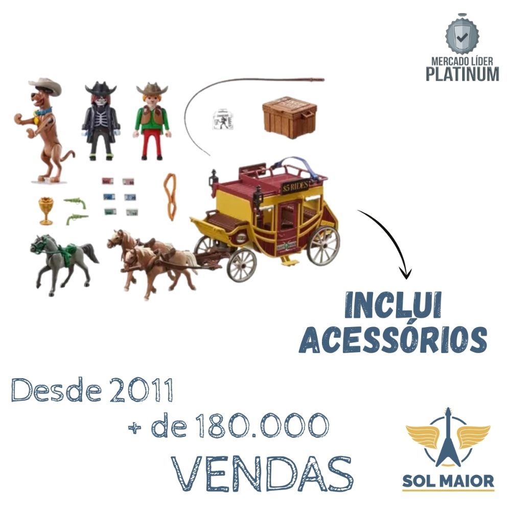 Playmobil Scooby Doo Aventura no Oeste Selvagem 1639 - Sunny