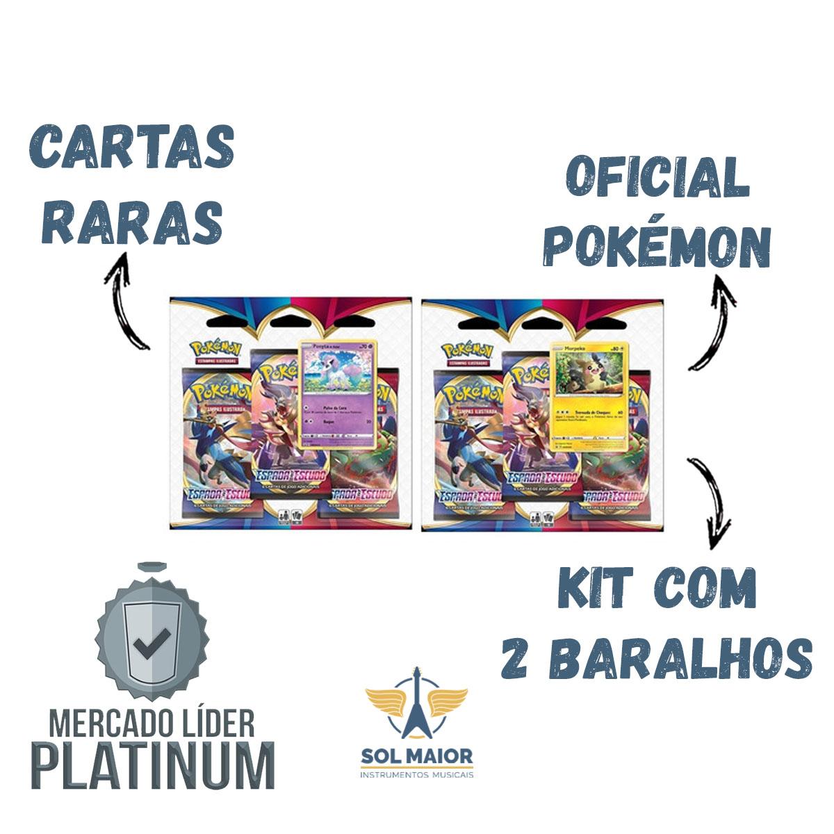 Pokemon 2 X Blister Triplo Espada E Escudo Ponyta E Morpeko