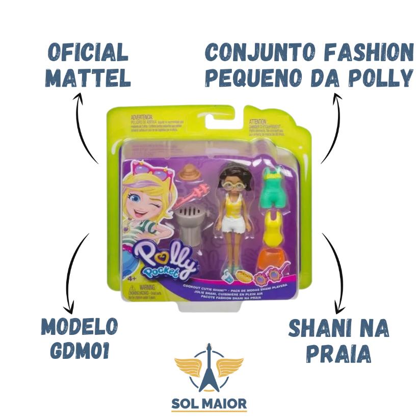 Polly Pocket Conjunto Fashion Pequeno - Polly Shani na Praia