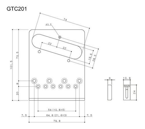 Ponte Gotoh Fixa Gtc201 Black Original Made In Japan