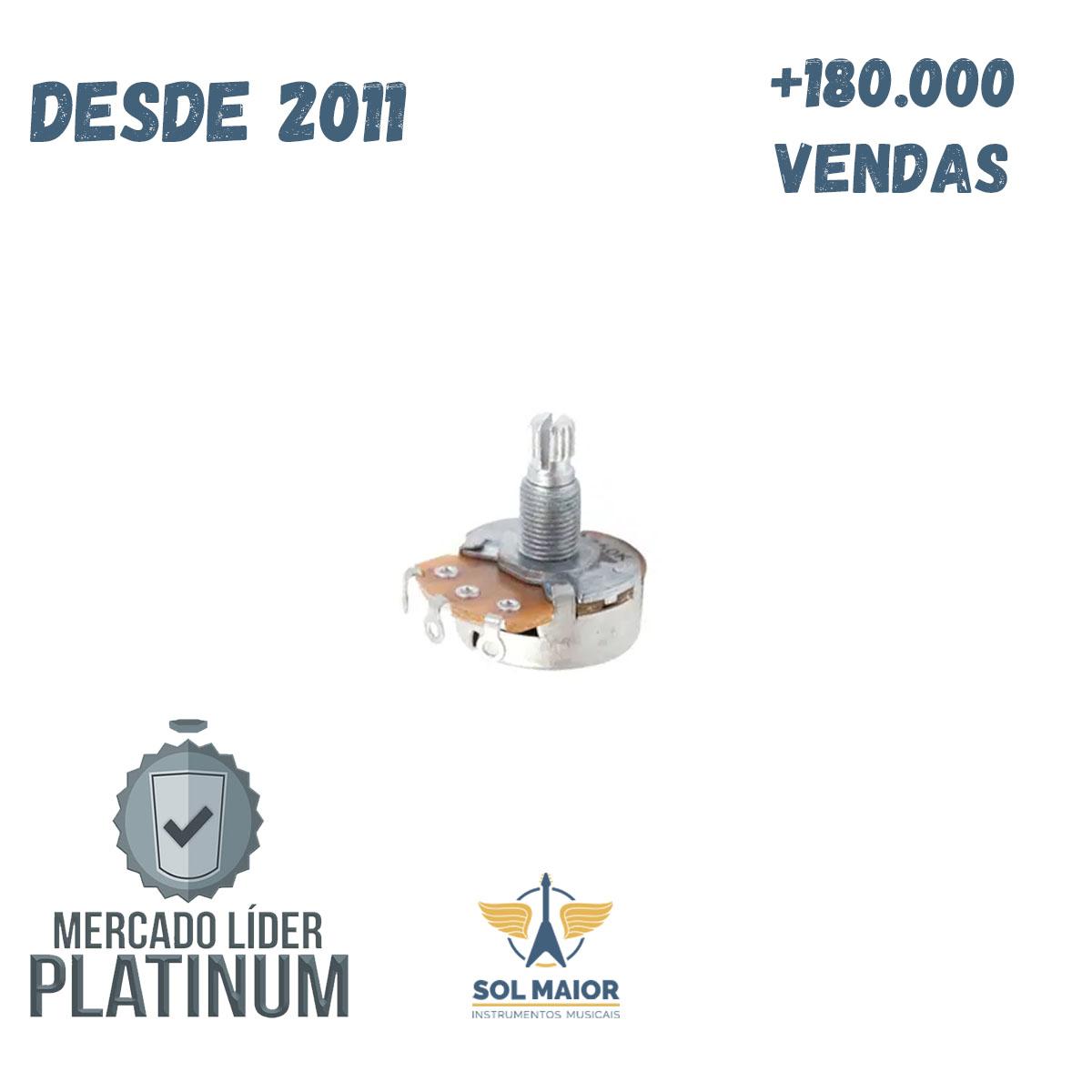 Potenciômetro Custom Sound B250K Linear 24mm Diâmetro
