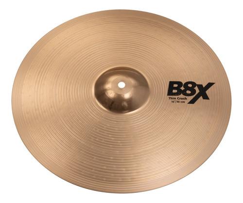 Prato Sabian 16 Thin Crash B8x Bronze