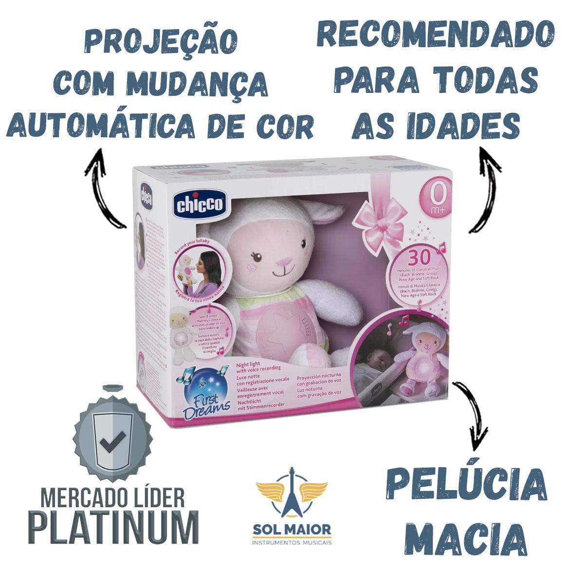 Projetor Ovelha Chicco Doce Soninho Rosa