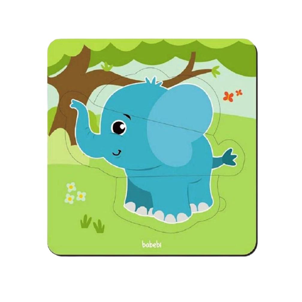 Quebra-Cabeça Baby Elefante 3 peças - Babebi 8018