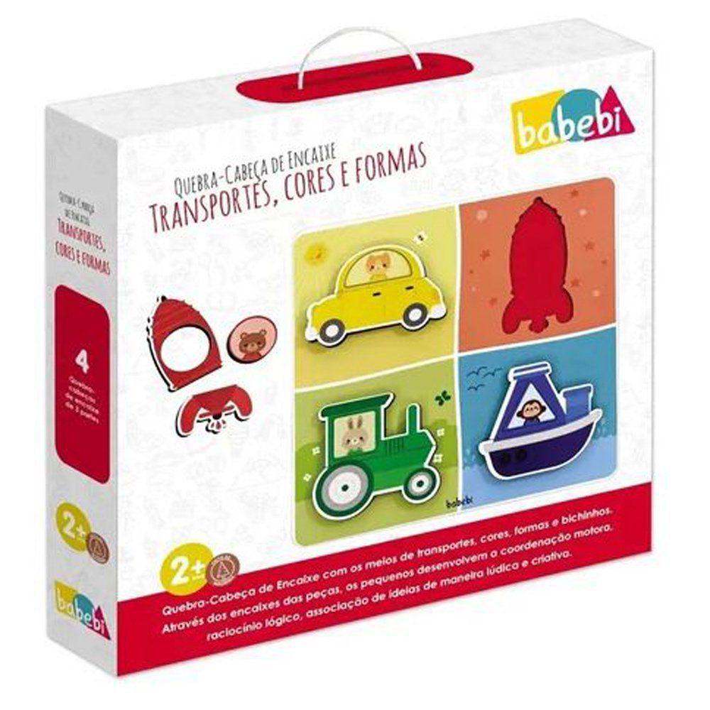 Quebra Cabeça De Encaixe - Transportes - 6042 Babebi
