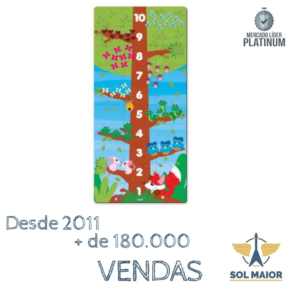 Quebra-Cabeça de Madeira - Conte até 10 - Babebi
