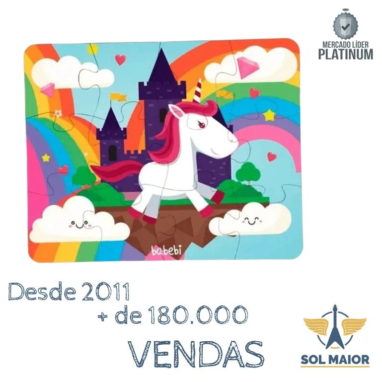 Quebra-Cabeça Infantil Gigante Unicornio - 6025 - Babebi