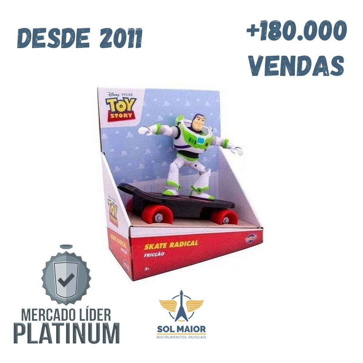 Skate Fricção Toy Story Com Buzz Lightyear Toyng 34066