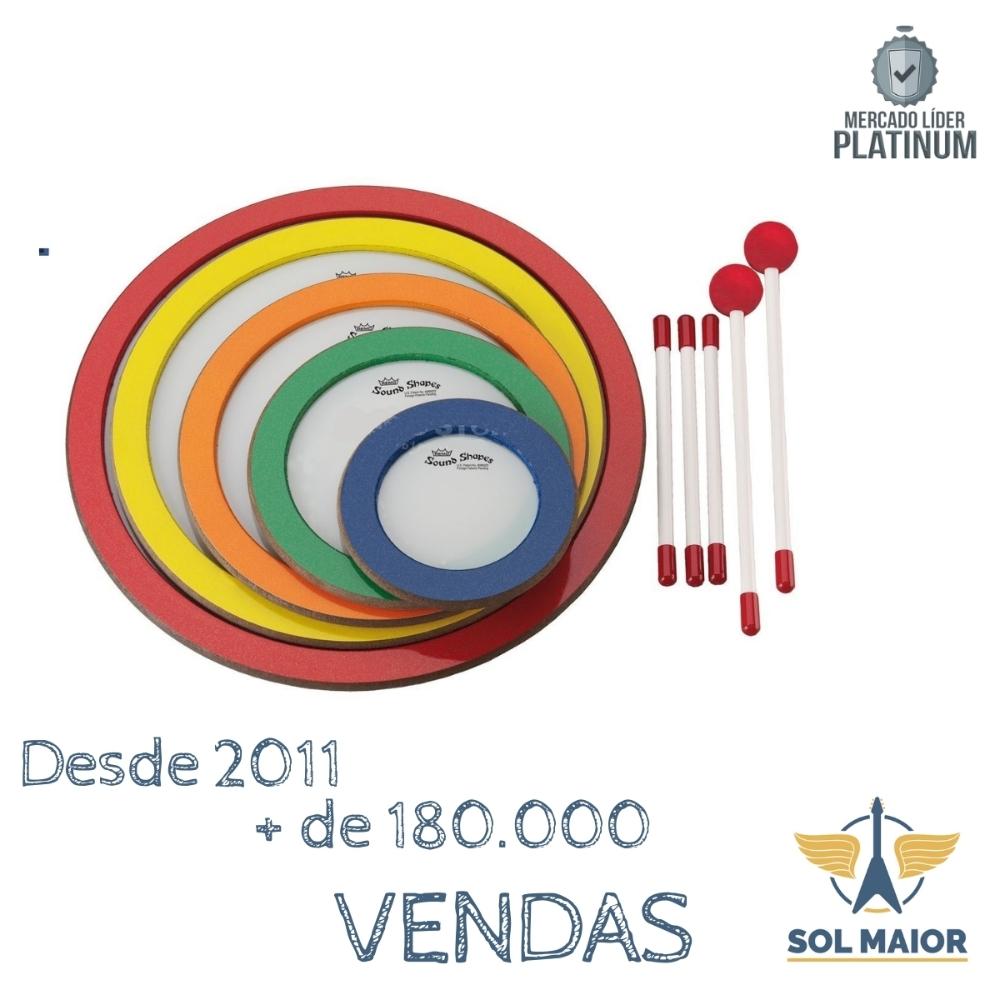 Sound Shapes Remo Circle Pack com 5 Peças - SS-1000-05