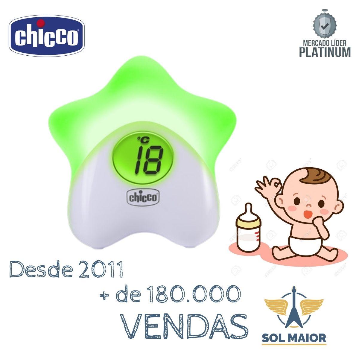 Star Luz Noturna Infantil Com Termometro De Ambiente Chicco