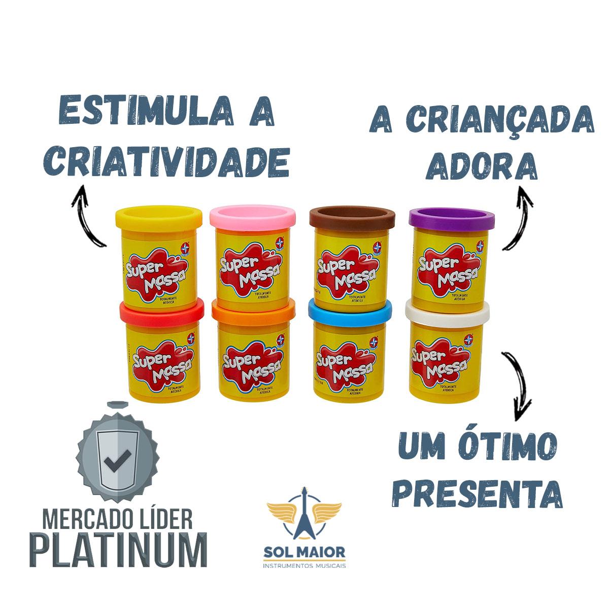 Super Massa Kit Cores 8 Potes Massinha - Estrela