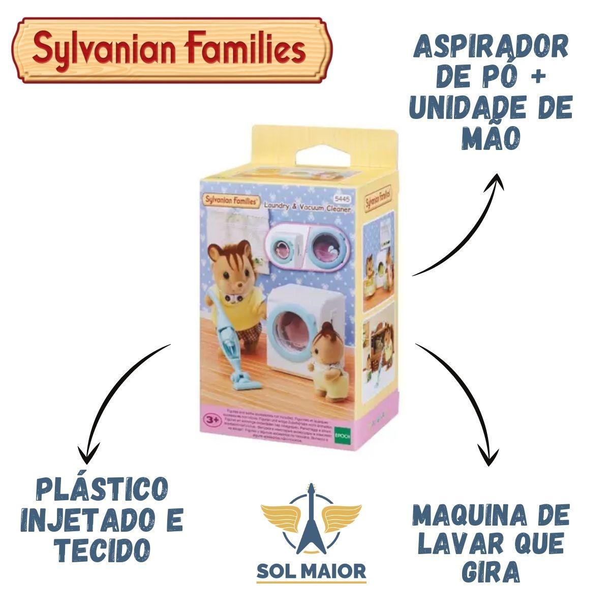 Sylvanian 5445 - Máquina De Lavar Roupa E Aspirador De Pó