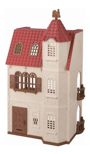 Sylvanian Families Casa Com Torre E Telhado Vermelho 5400