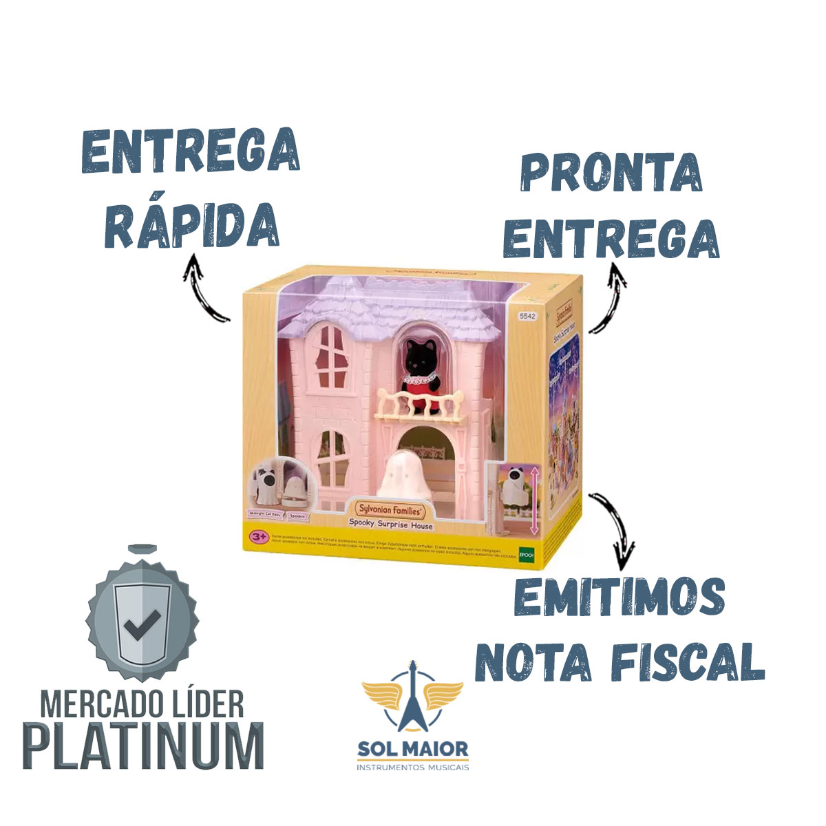 Sylvanian Families Casa Surpresa Assombrada - Epoch 5542