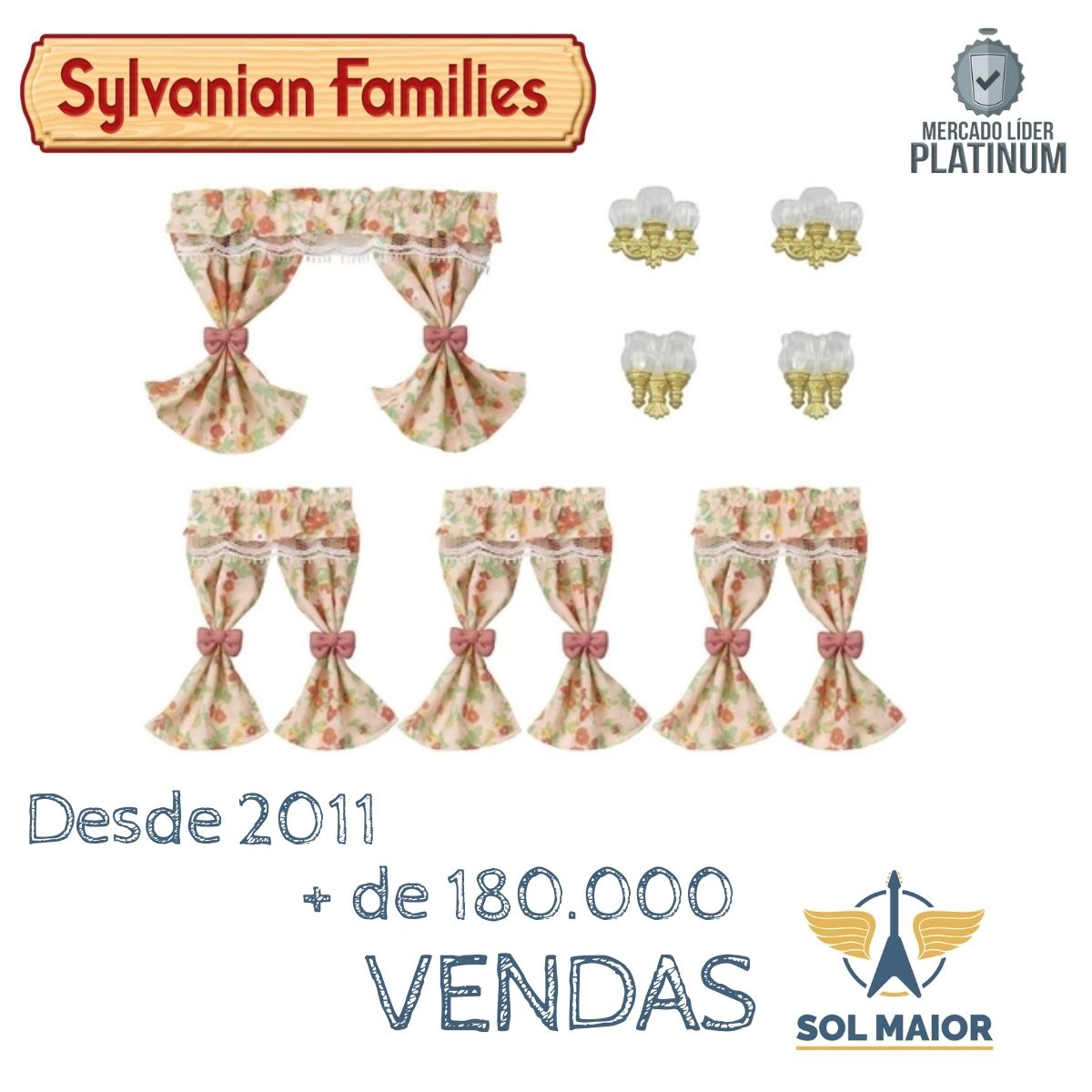 Sylvanian Families Conjunto Luminarias E Cortinas Epoch 5447