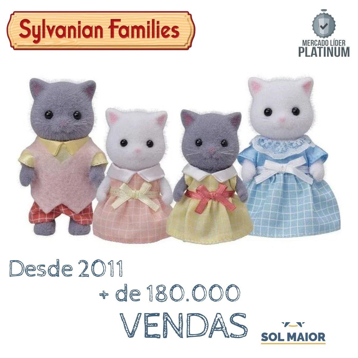 Sylvanian Families Família Dos Gatos Persas Epoch - 5455