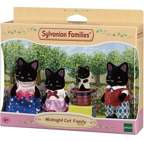 Sylvanian Families - Familia Gatos Meia-noite - Epoch 5530