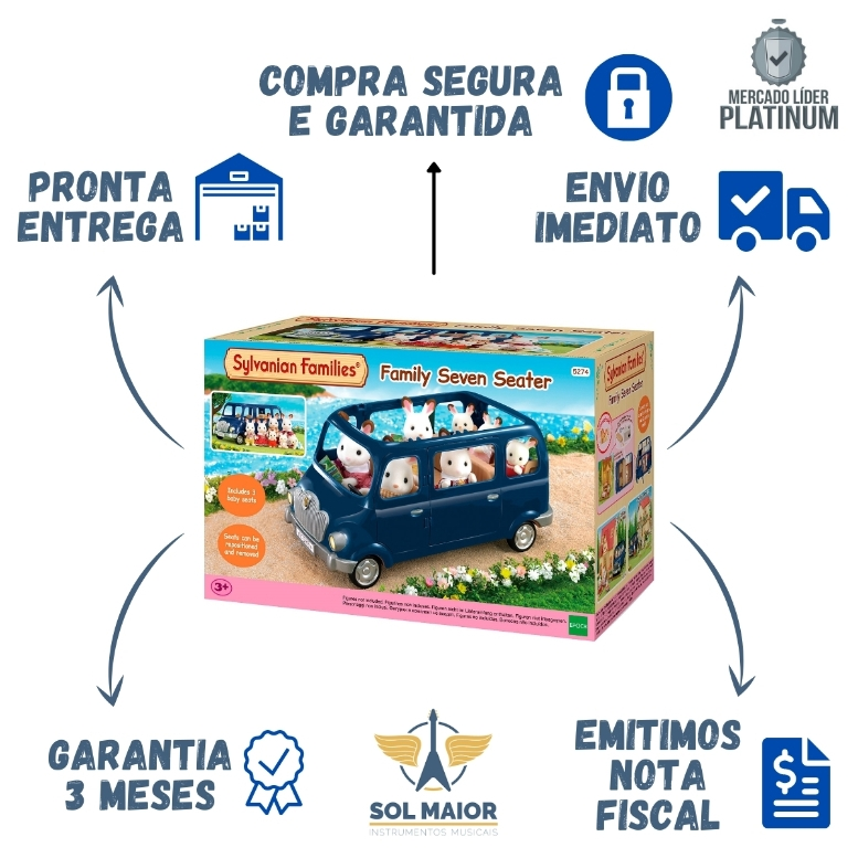 Sylvanian Families Mini Van Epoch 5274 + Frete Gratis