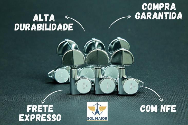 Tarraxa Guitarra Blindada Sg301-20 3+3 Cromada Gotoh