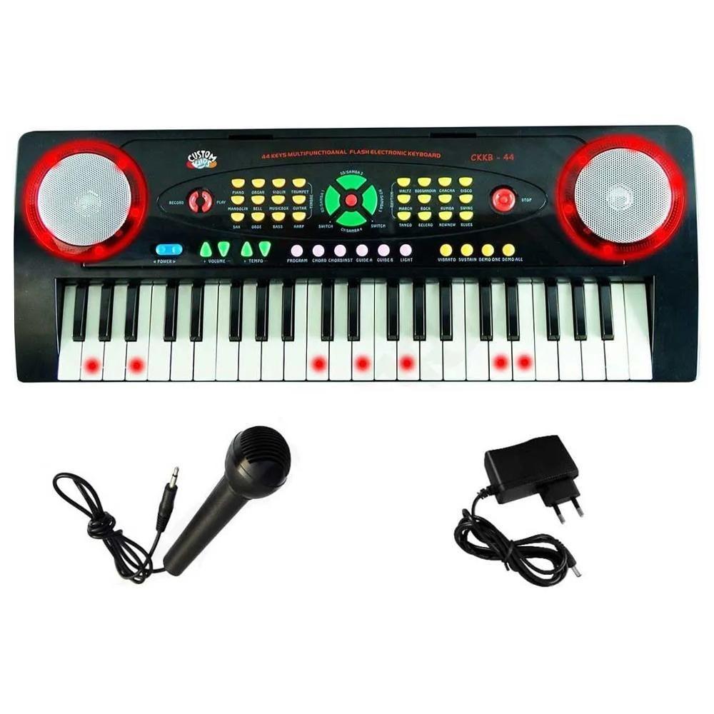 Teclado Infantil Custom Kids CKKB 44 Teclas com Microfone