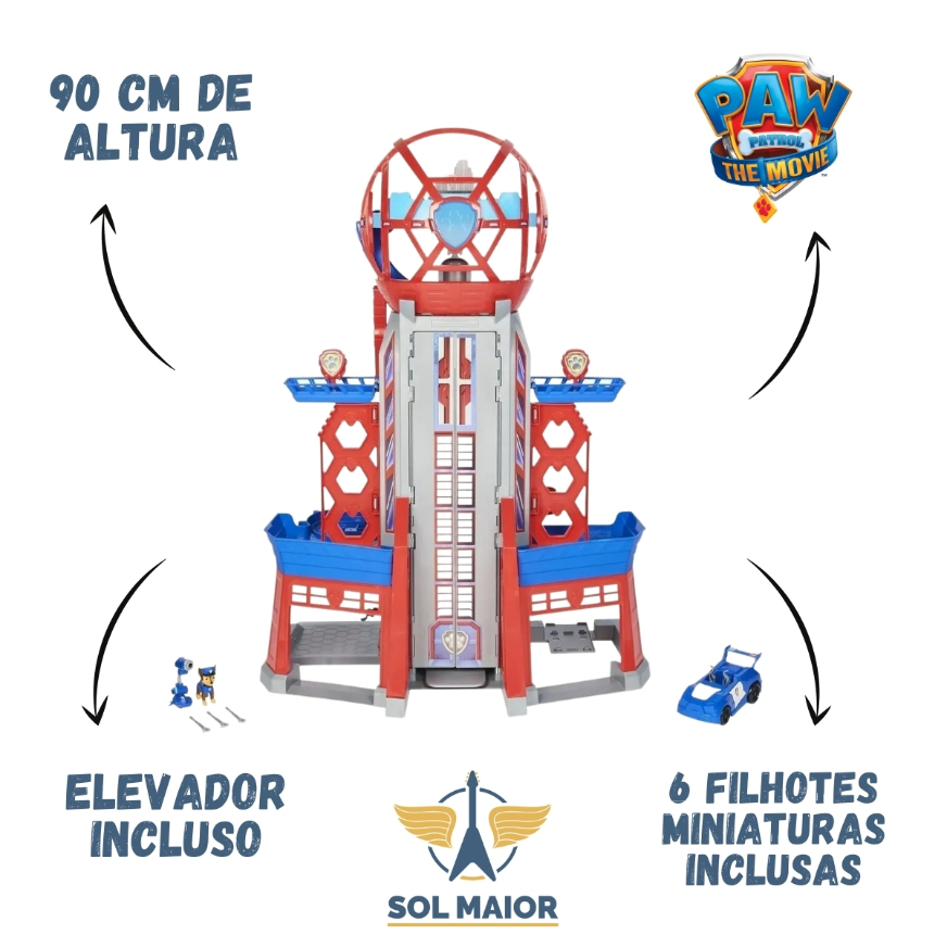 Torre de Vigilância Patrulha Canina Ultimate City Tower 2800