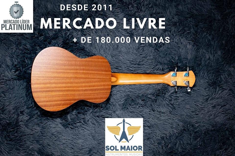 Ukulele Winner Concert 23 Sapele Laminado Natural + Cordas Aquila + Afinador + Palhetas