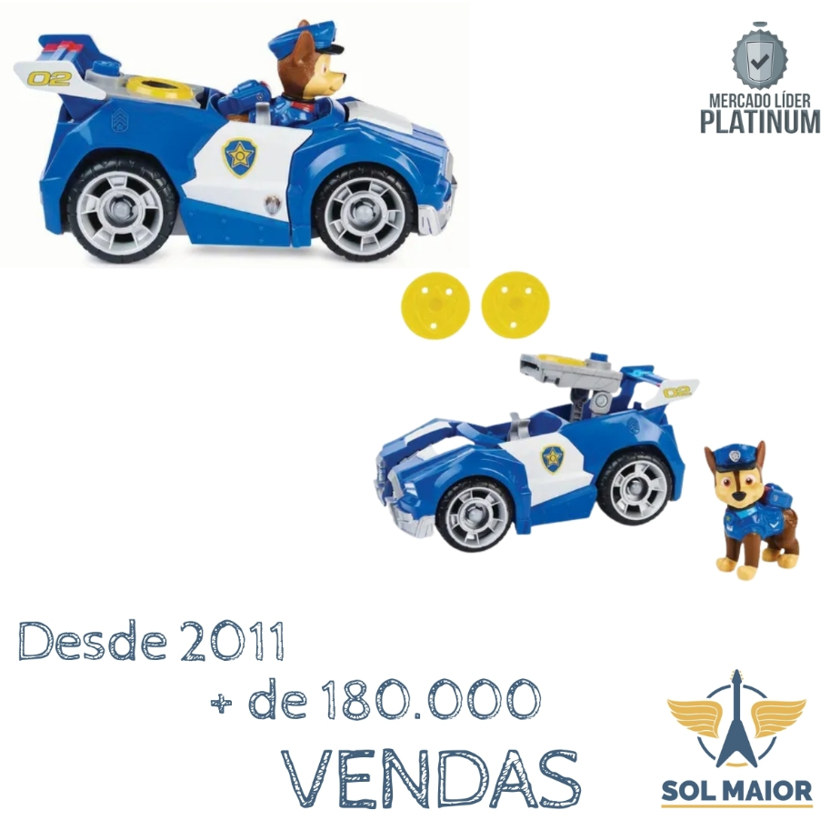 Veículos De Luxo Patrulha Canina Sunny - Viatura Chase 2710