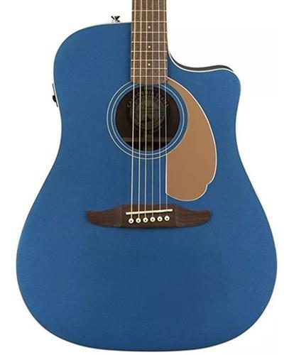 Violão Fender Redondo Player 010 Belmont Blue C/ Cutaway