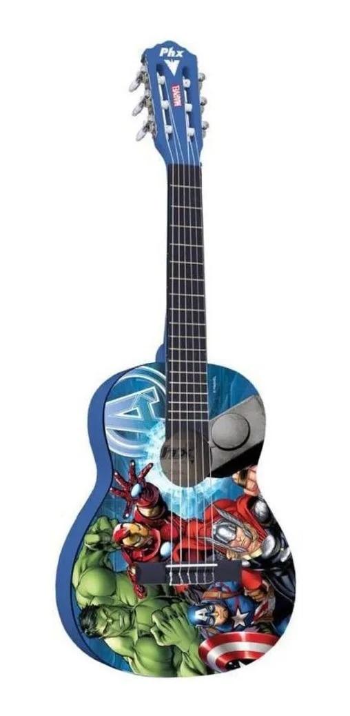 Violão Infantil Vingadores Phx Marvel Avengers Marvel + Capa