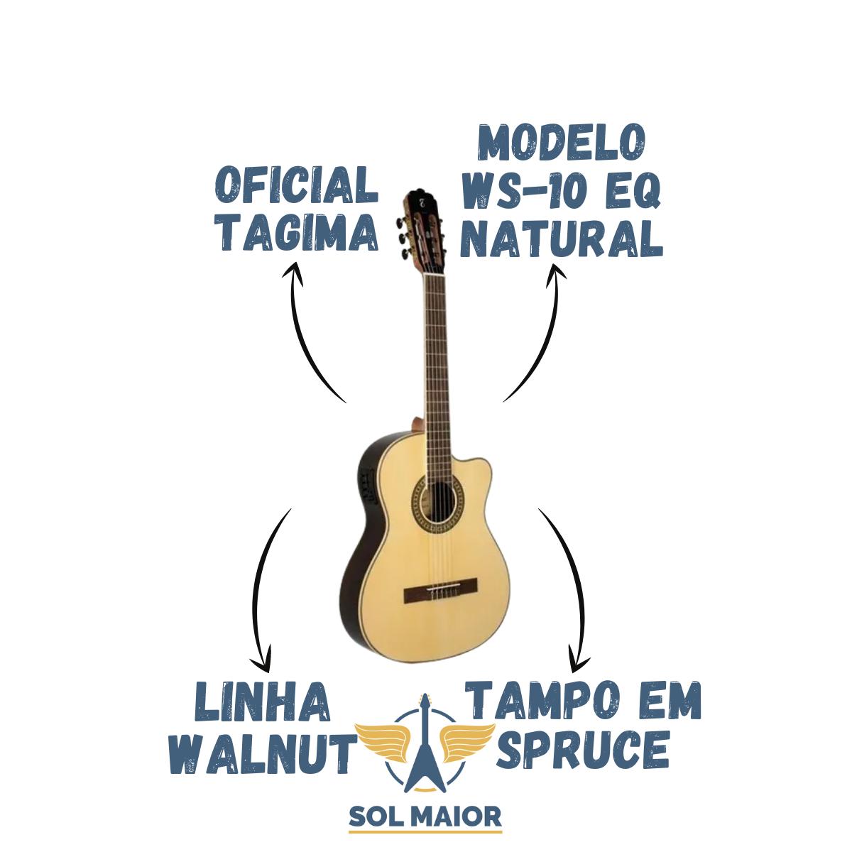 Violão Tagima Ws-10 Eq Classical Cutaway Nylon Walnut