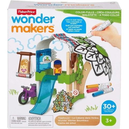 Wonder Makers Colorir Casa na Árvore com Canetas, Fisher Price, GLY25, Mattel, Multicor