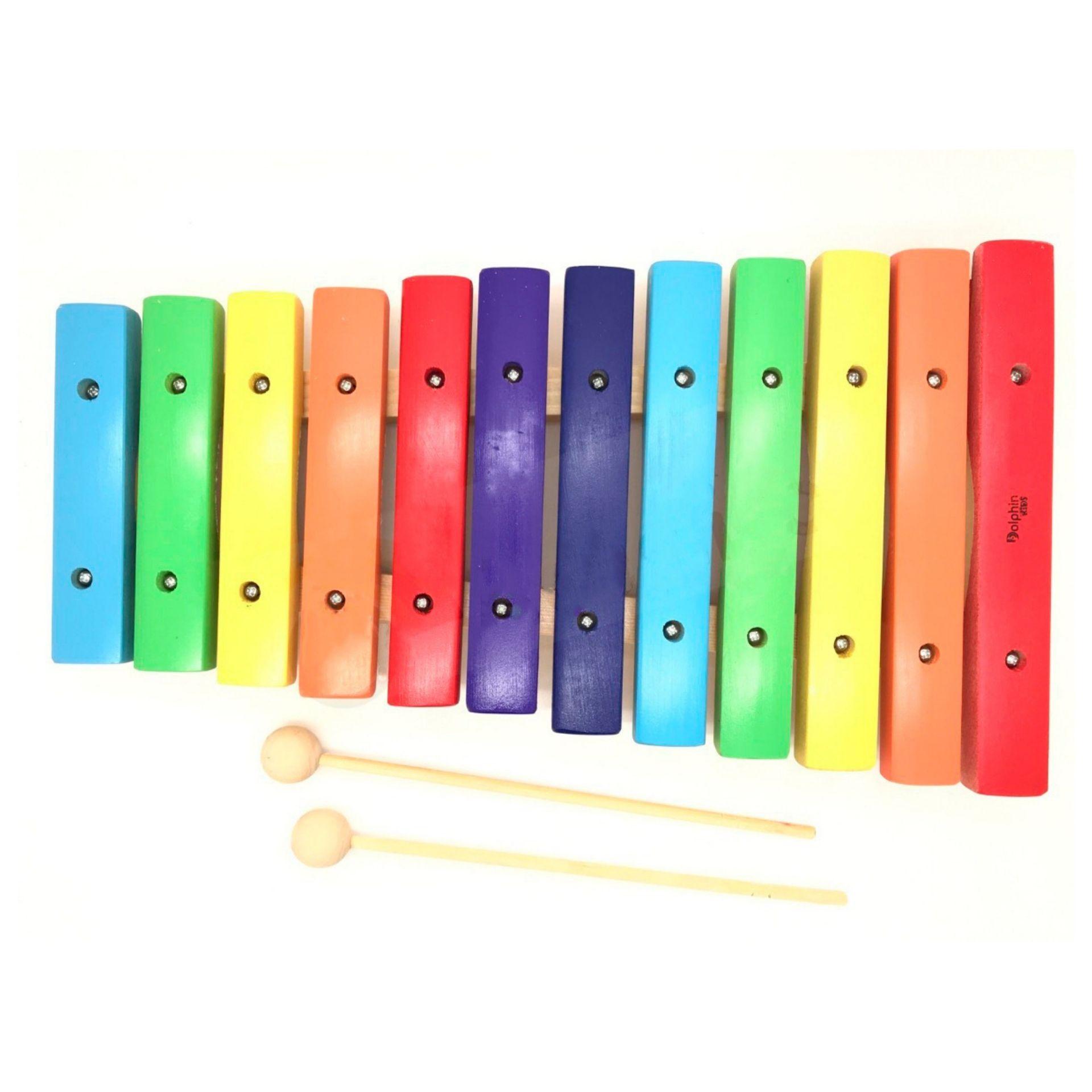 Xilofone Infantil C/12 Notas Colorido DOLPHIN 9735